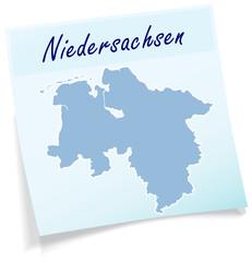Niedersachsen als Notizzettel