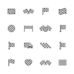 Finish flag icons set.