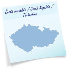 Tschechien als Notizzettel