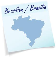 Brasilien als Notizzettel