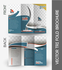 Shopping Center Store Tri-Fold Brochure Design.