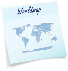 Welt als Notizzettel