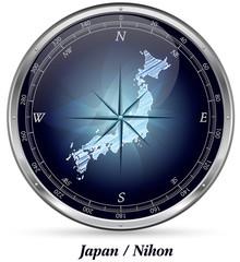 Japan mit Grenzen