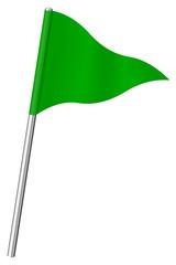 Drapeau de signalisation vert
