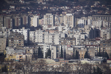 View on Mostar suburbs