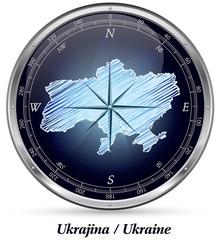 Ukraine mit Grenzen