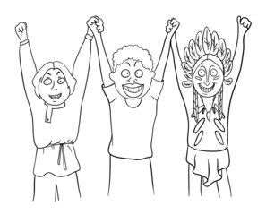 peace and friendship of peoples, vector illustration
