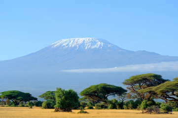 Snow on top of Mount Kilimanjaro