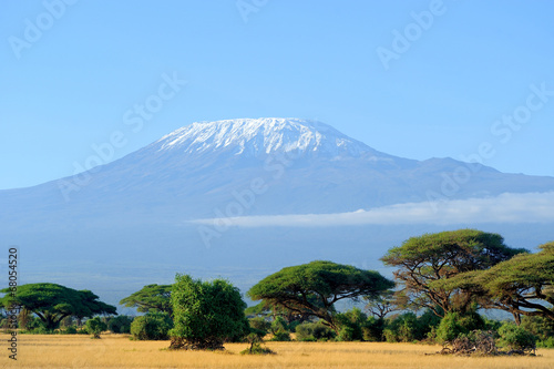 Fotobehang Overige Snow on top of Mount Kilimanjaro