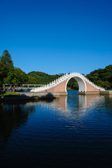 beautiful park with lake in Taipei