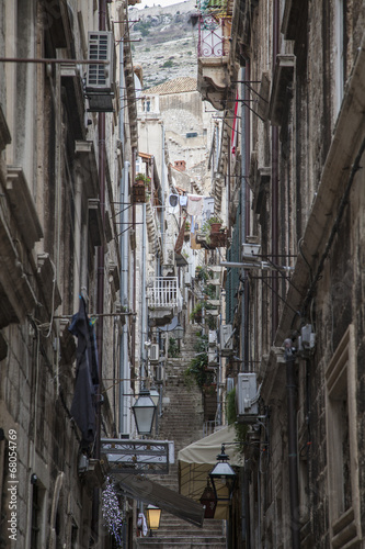 Narrow street in Dubrovnik