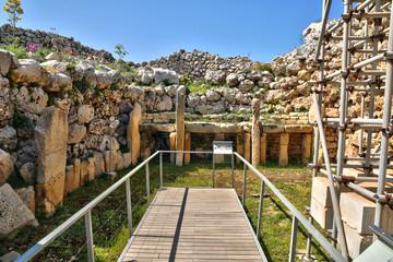 Malta, the picturesque Ggantija temple in Gozo