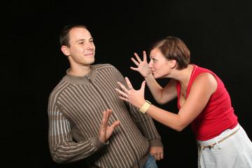 Couple having fight