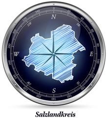 Salzlandkreis mit Grenzen