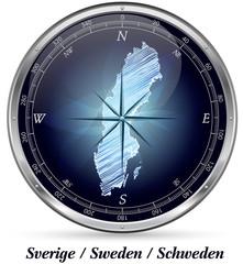 Schweden mit Grenzen