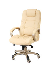 The office chair from beige leather