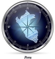 Peru mit Grenzen