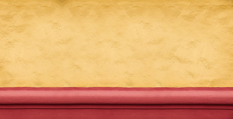 Wide yellow concrete wall background