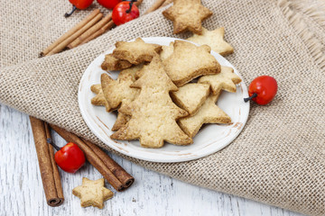 Gingerbread cookies. Traditional christmas recipe.
