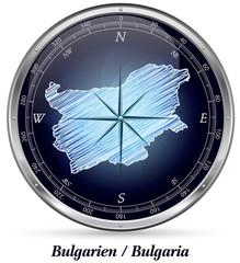 Bulgarien mit Grenzen