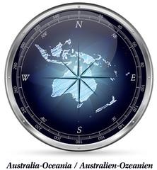 Australien-Ozeanien mit Grenzen
