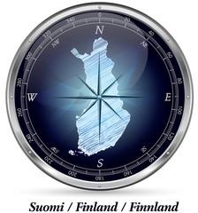 Finnland mit Grenzen