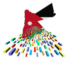 Jordan map flag with containers illustration