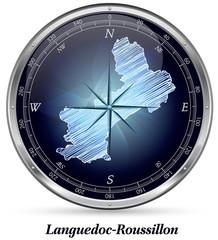 Languedoc-Roussillon mit Grenzen