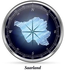 Saarland mit Grenzen