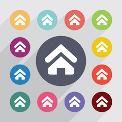 Home, flat icons set