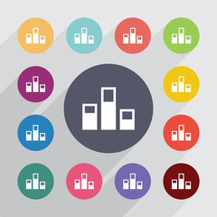 levels, flat icons set