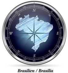 Brasilien mit Grenzen