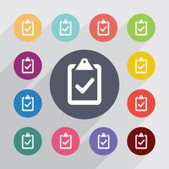 vote, flat icons set