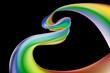 Rainbow heart ribbon background