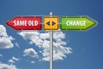 Same old or change