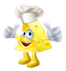 Cheese chef cartoon