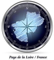 Pays-de-la-Loire mit Grenzen