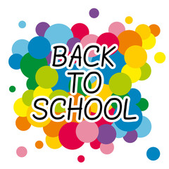 Back to school tittle with colorful background