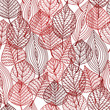 Seamless pattern of red autumnal leaves - 68059580