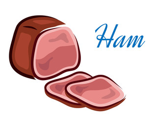 Pieces of ham