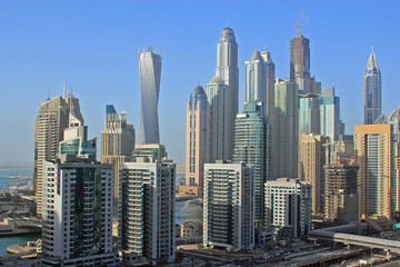 Aerial view of Dubai Marina