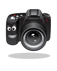Cute cartoon DSLR or digital camera