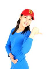 빨간 모자를 쓴 여인