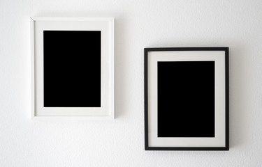 empty black and white frames