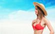 Woman posing in swimwear