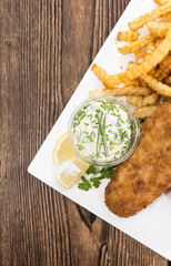 Fried Salmon Filet with French Fries