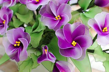 Plastic Purple flowers