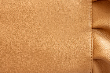 Leather Beige Background with the Frill