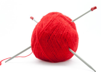 The Skein of Wool with Knitting Needles
