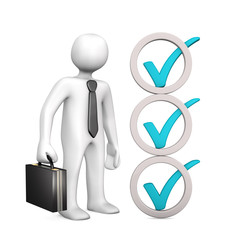 Businessman Abstract Checklist